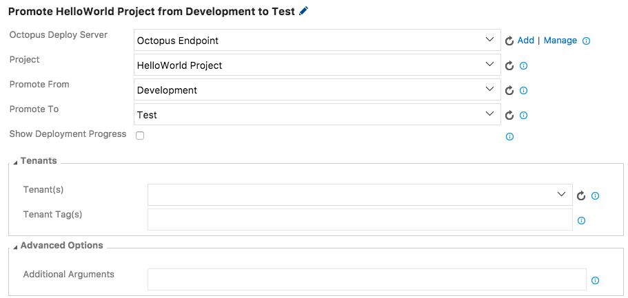 Configure Promote Release Step