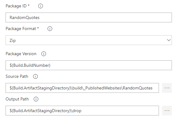Configure Package Application Step